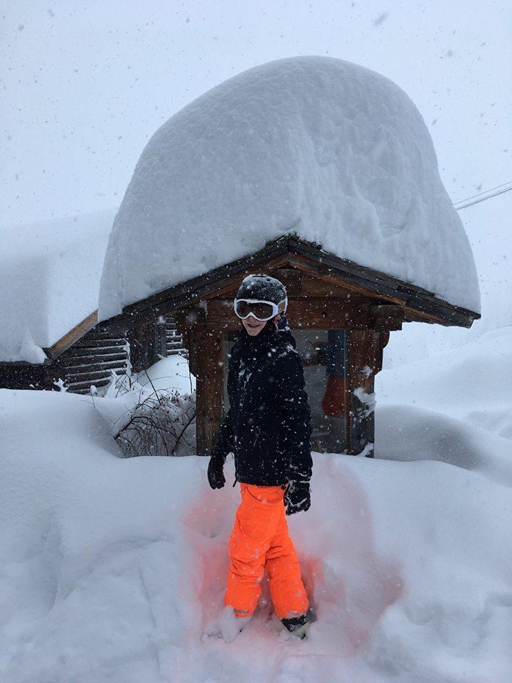 enorme sneeuwval in Sölden