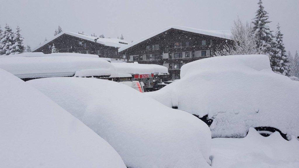 sneeuw in oostenrijk