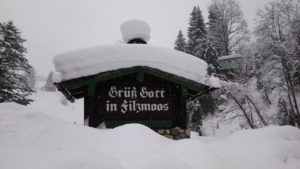 sneeuw op dak